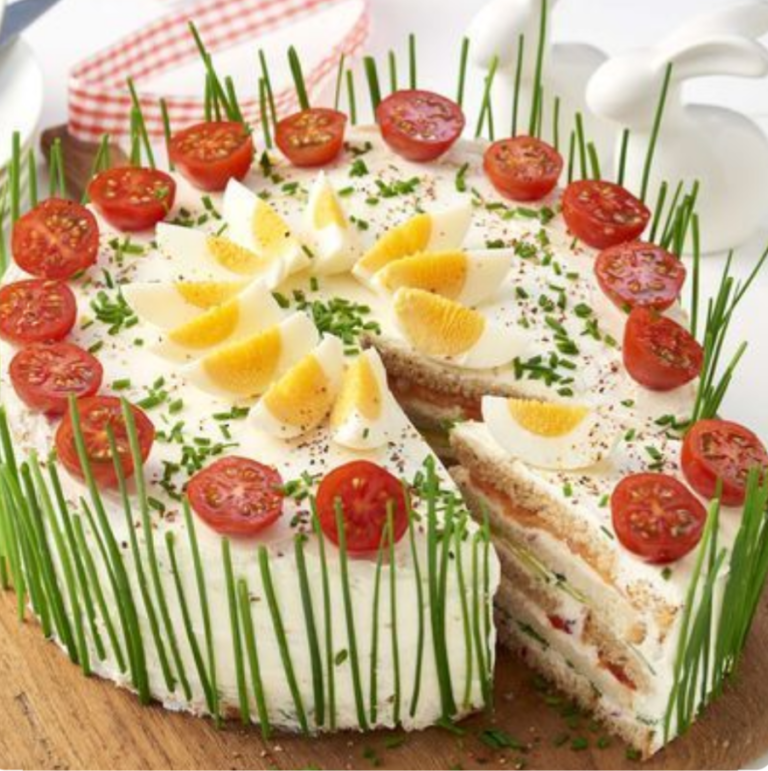 Torta salata di tramezzini