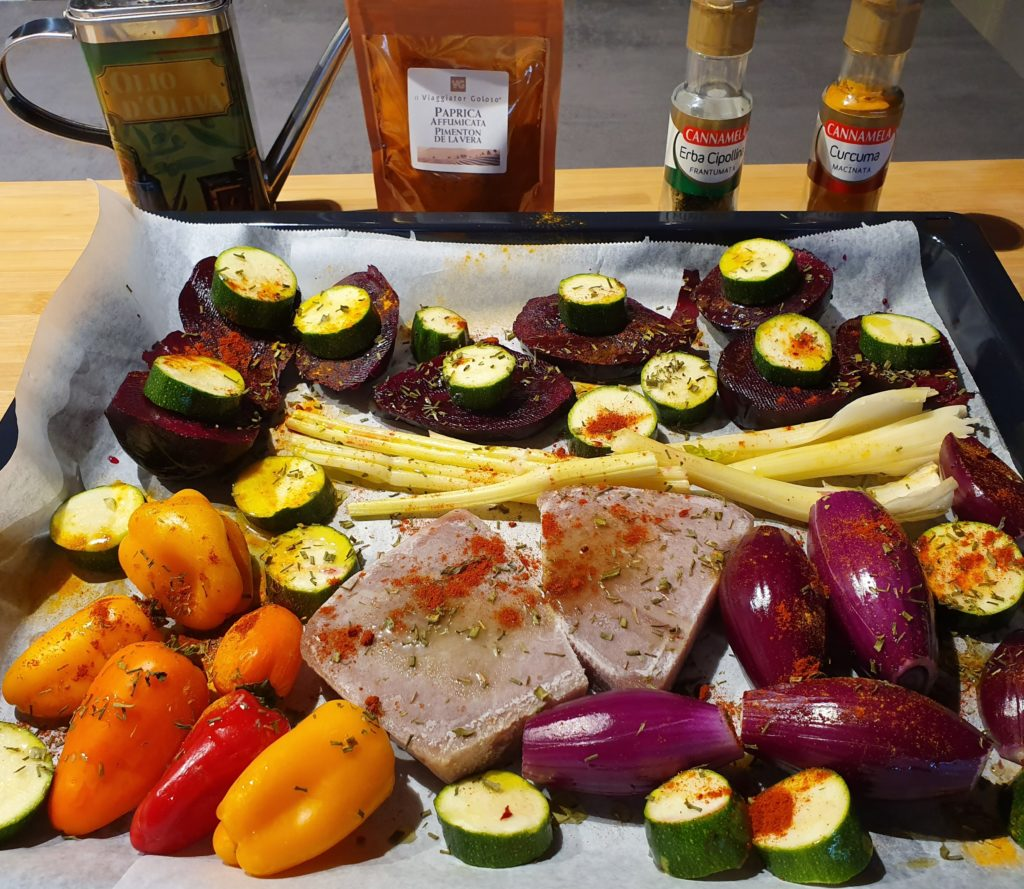 tonno e verdure