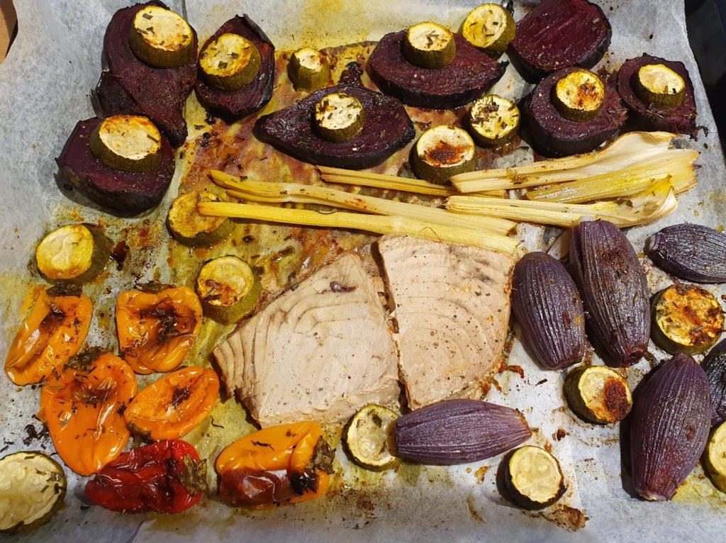 tonno e verdure al forno