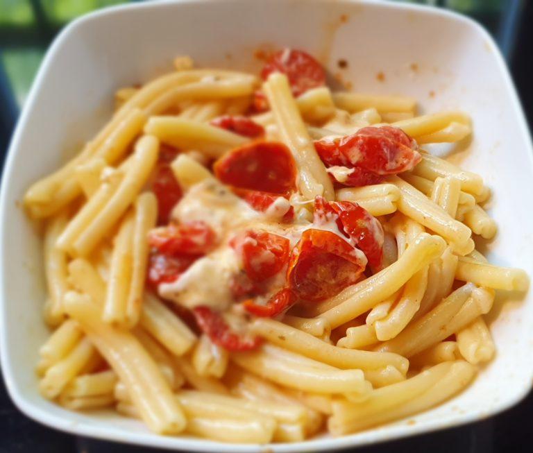 La pasta Margherita con stracchino