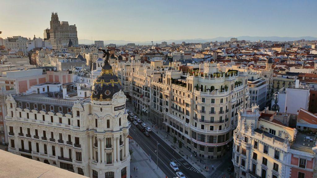 Madrid vista dal circolo delle belle arti