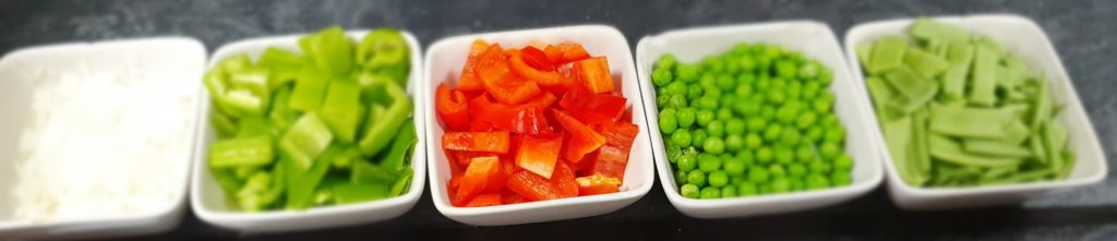 verdure per paella