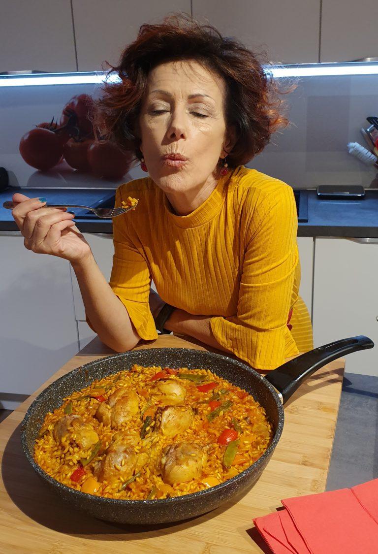 Paella Chiacchierina con pollo e verdure