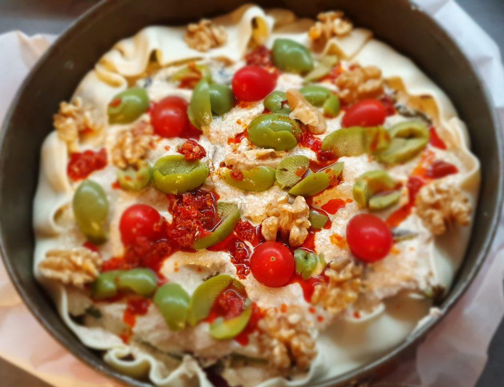 torta salata in forno