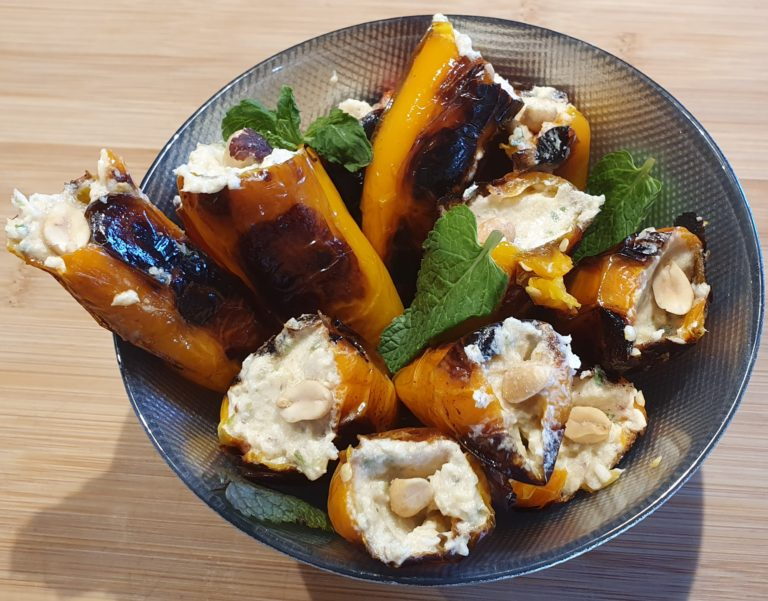 Peperoni ripieni con crema di baccalà