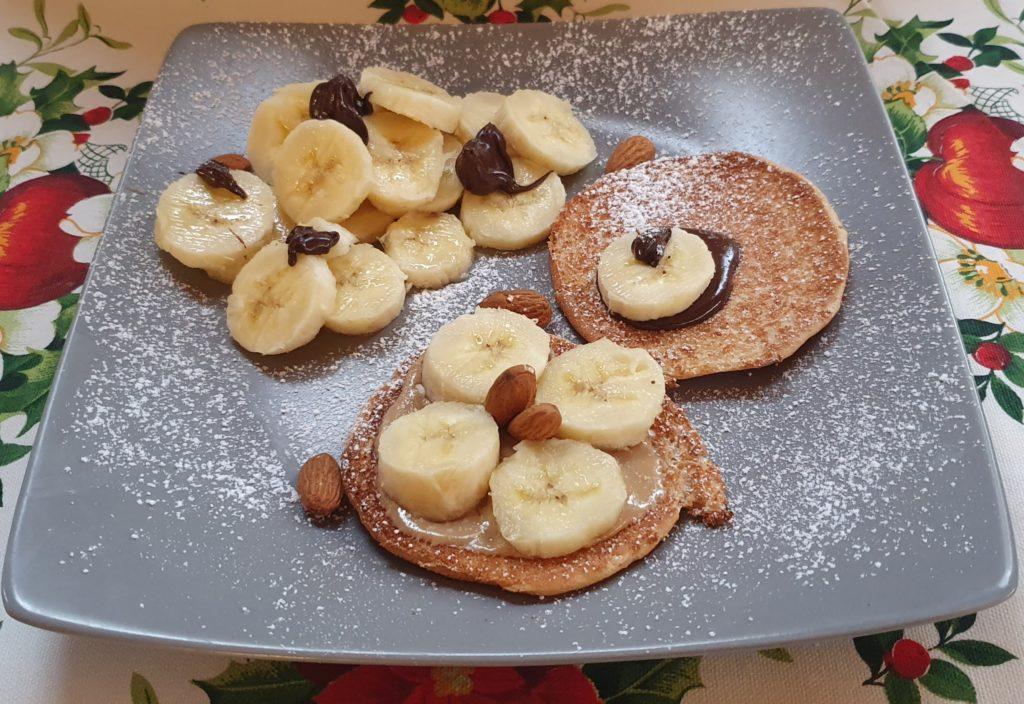 dessert con banane e burro d'arachidi