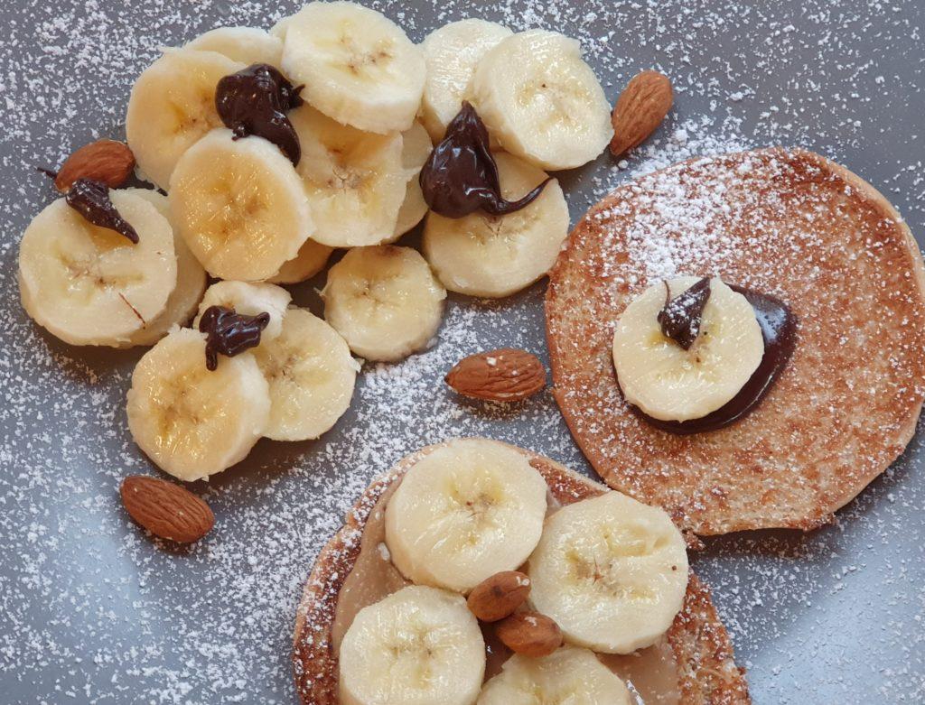dessert light con banane e burro d'arachidi