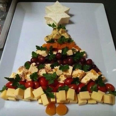 Antipasti di Natale con formaggi