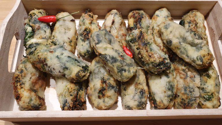 Crocchette di patate con spinaci