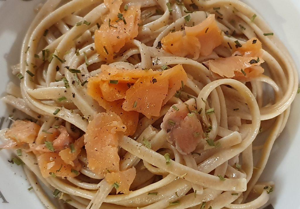pasta con salmone affumicato