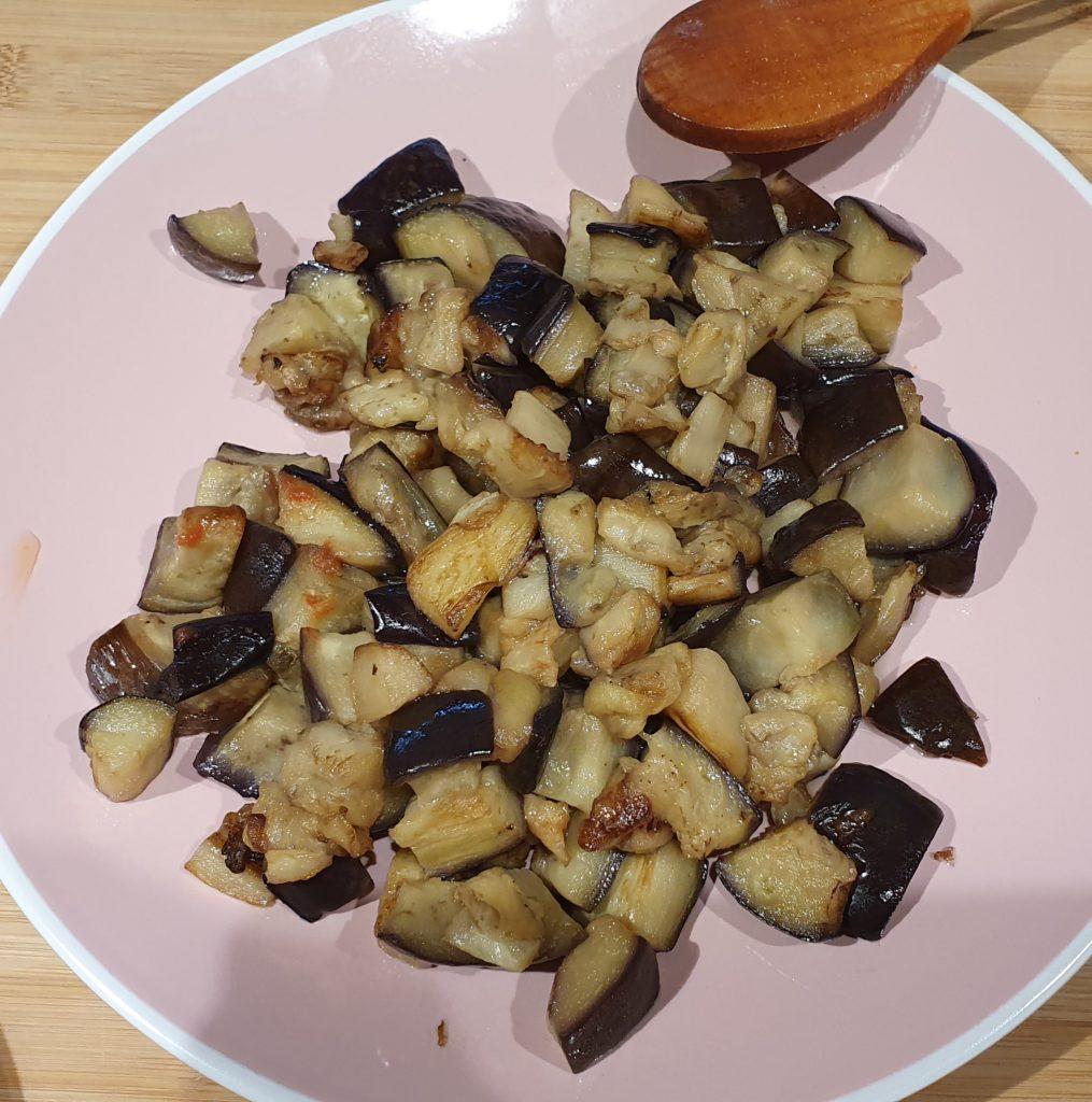 melanzane a cubotti cotte in padella