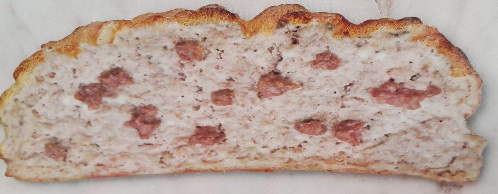 bruschetta con stracchino e salsiccia