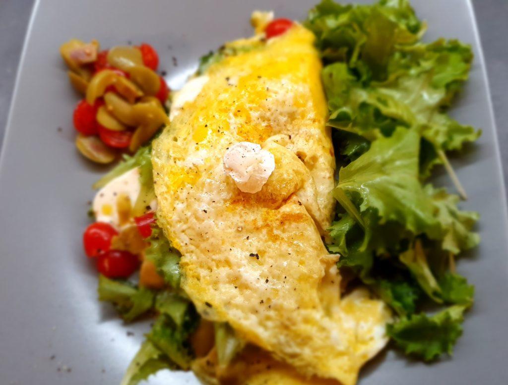 omelette pronta