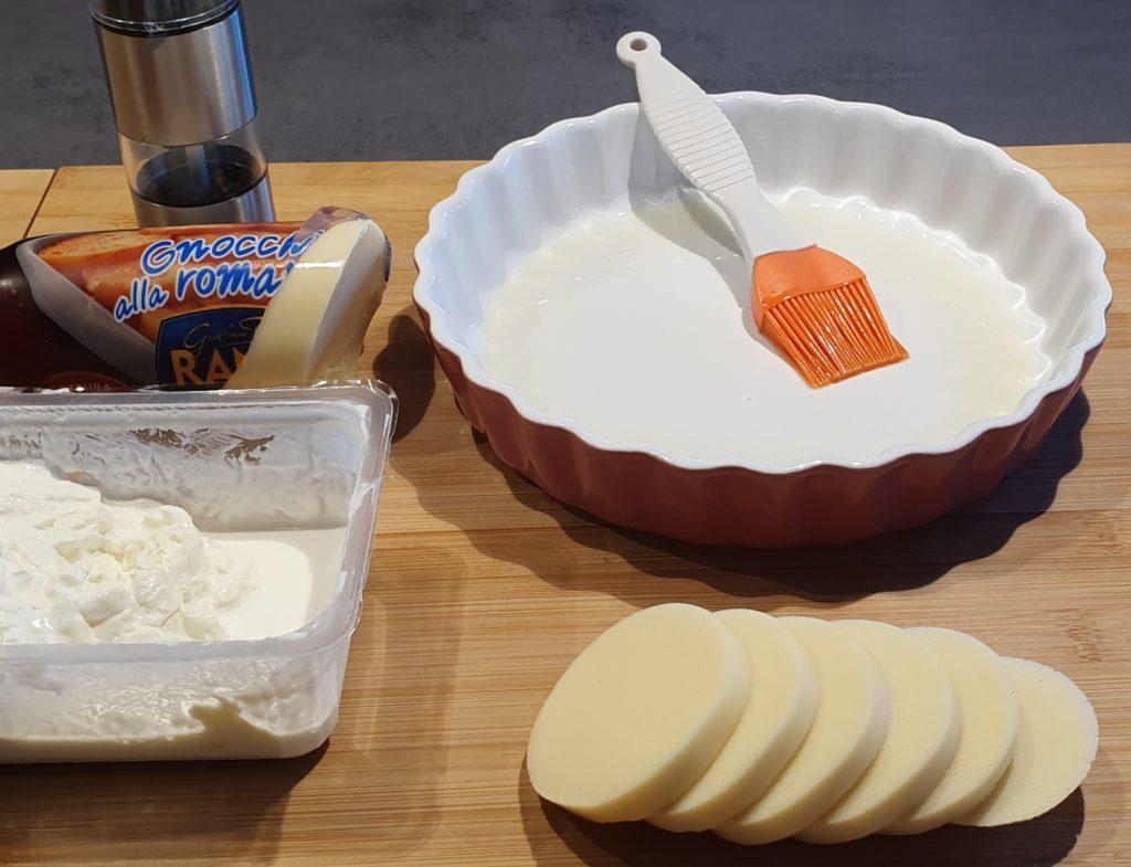 ingredienti per gnocchi alla romana con stracciatella