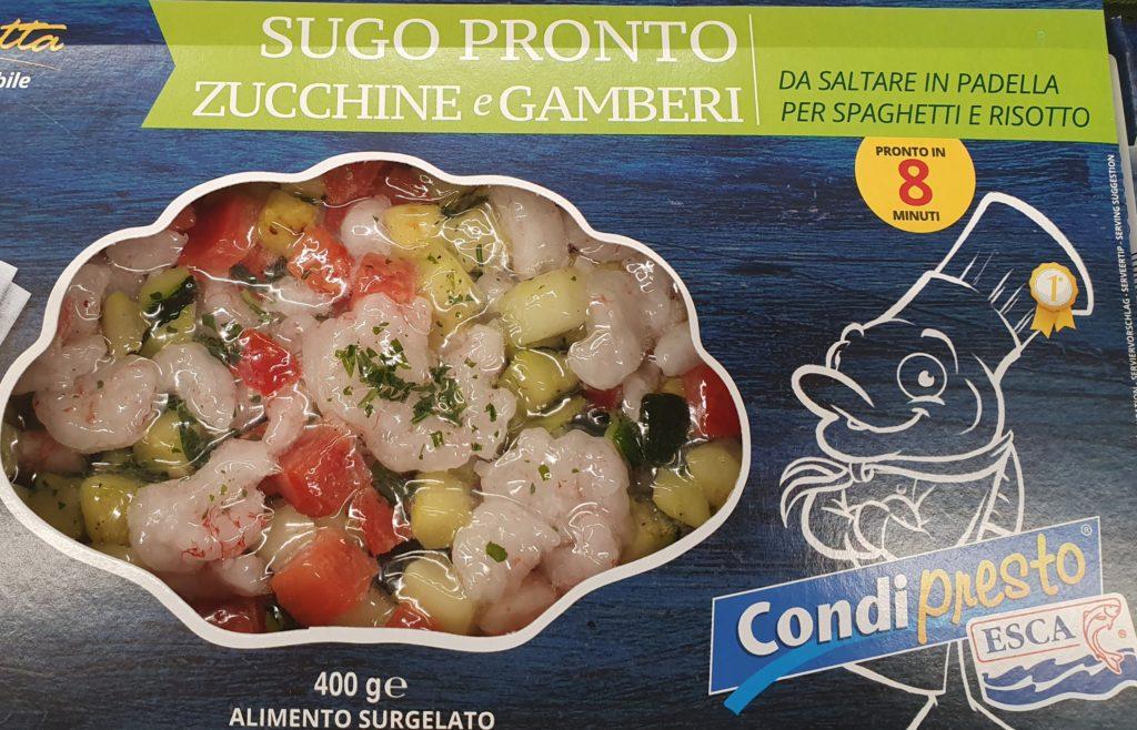 sugo pronto zucchine e gamberetti