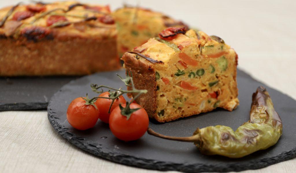 plumcake salato con verdure e ricotta