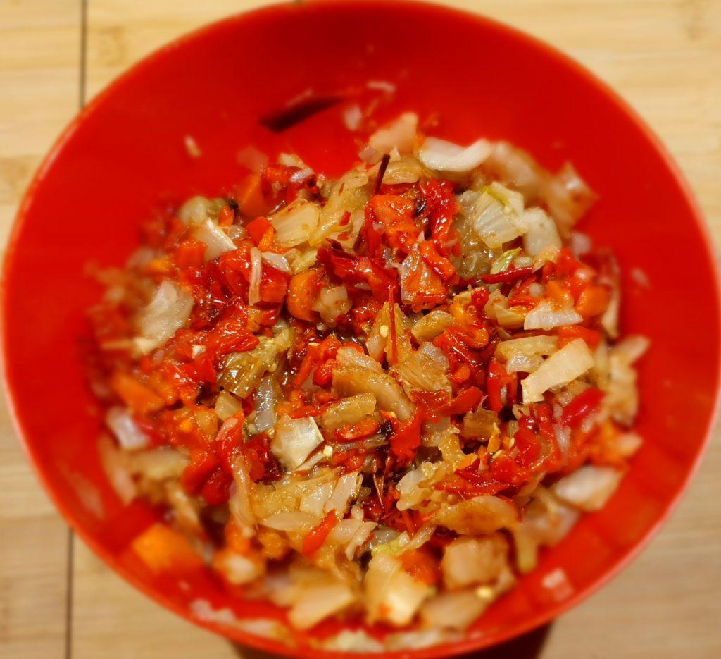 peperoni, finocchi e carote cotti in forno