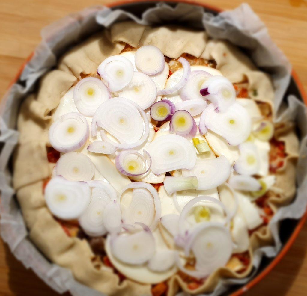 torta salata completata