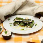 Zucchine grigliate e ricotta di bufala
