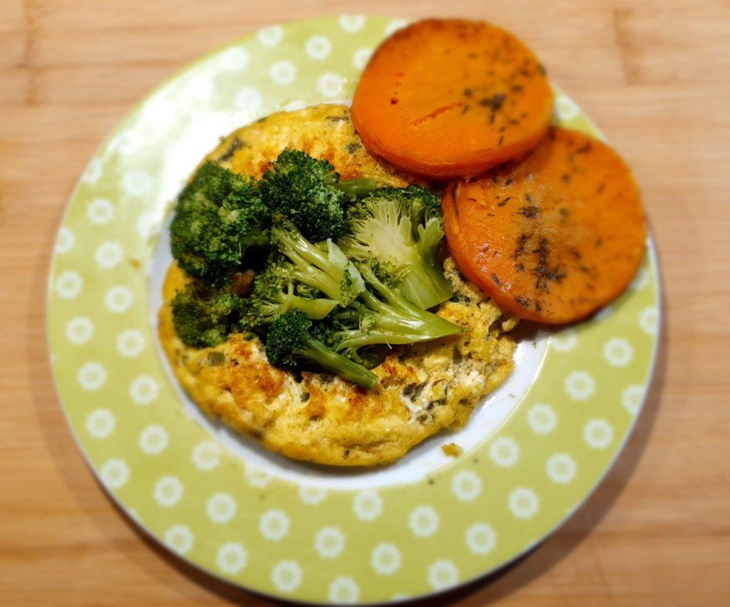 frittata con broccoletti e zucca