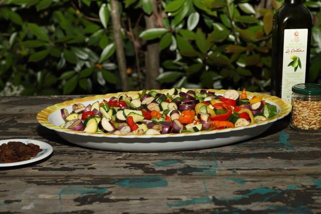verdure tagliate per la caponata