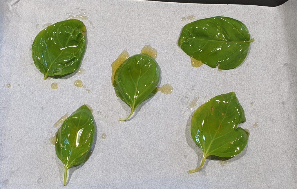 basilico da mettere a cristallizzare in forno