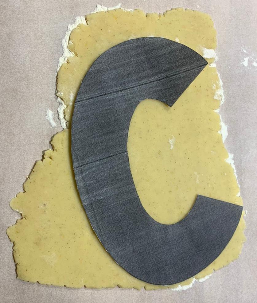 pasta sablè - realizzo la lettera C