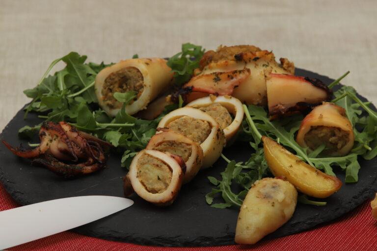 Calamari ripieni di verdure