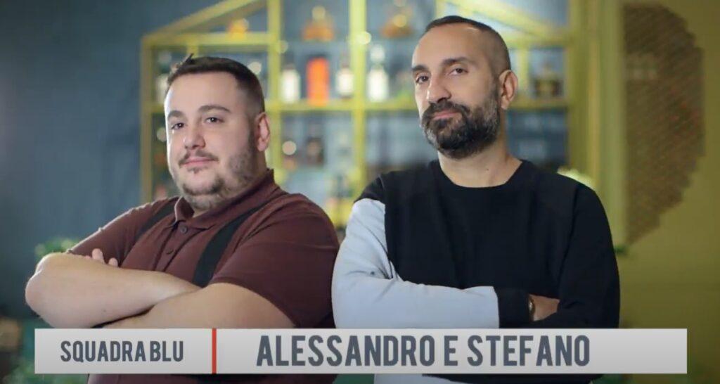 Alex e Stefano squadra blu di fuori menù