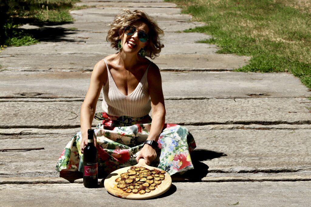 pizza di zucchine per aperitivo con amici
