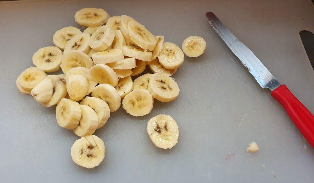 banane affettate da congelare