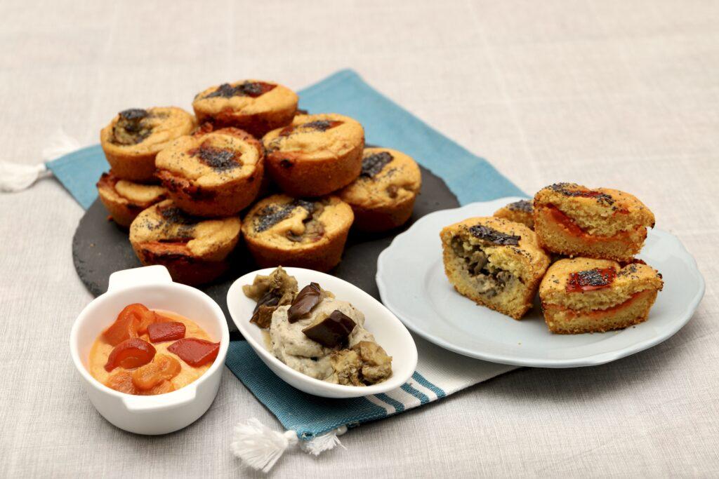 muffin salati dal cuore morbido