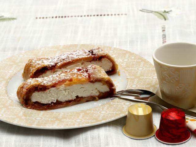 strudel di ricotta a colazione