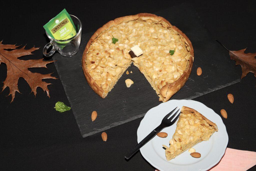 torta di zucca, ricotta e mandorle