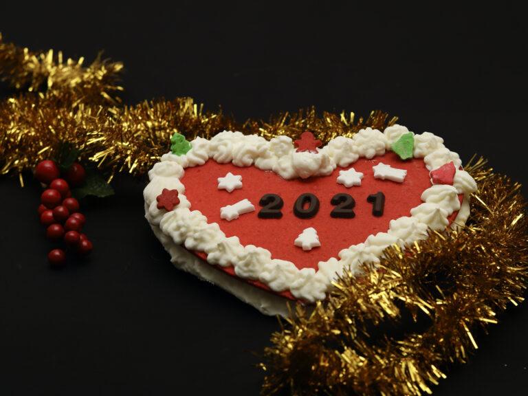Cream tart a cuore: ricetta natalizia