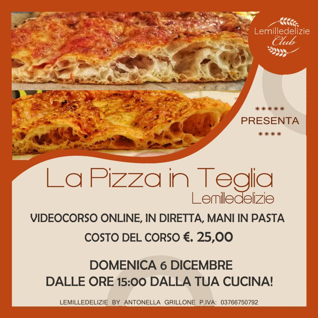 locandina del videocorso online la pizza in teglia