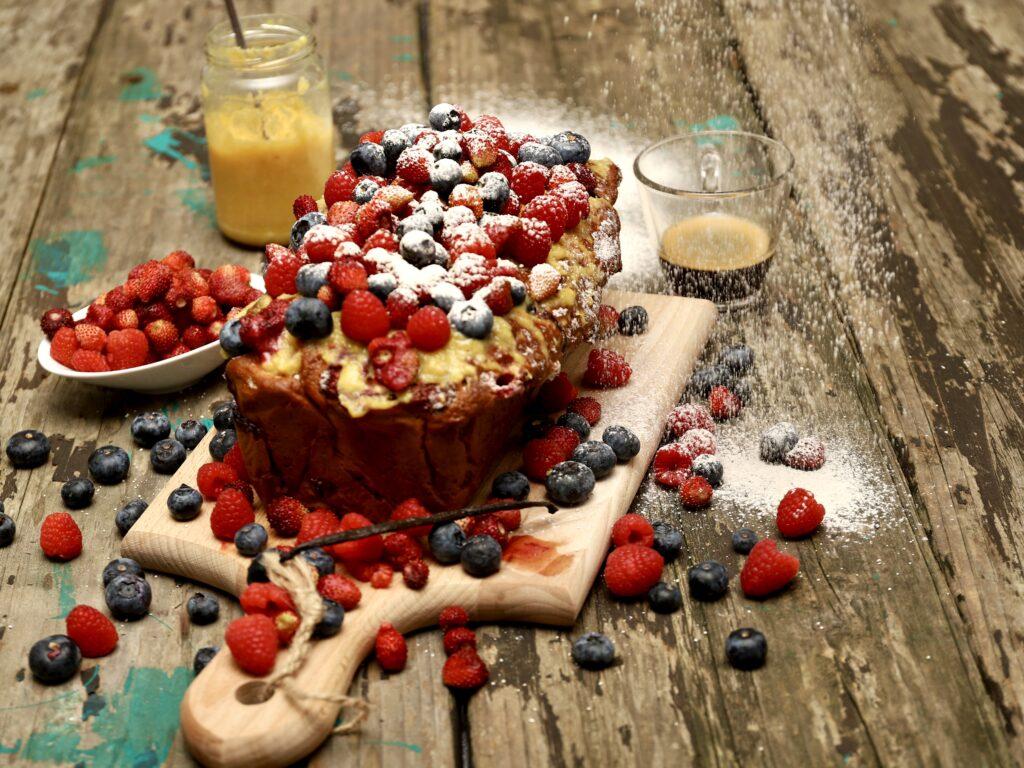 plumcake ai frutti di bosco