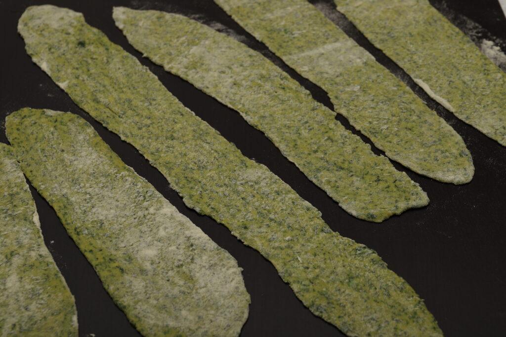 sfoglie di pasta con gli spinaci