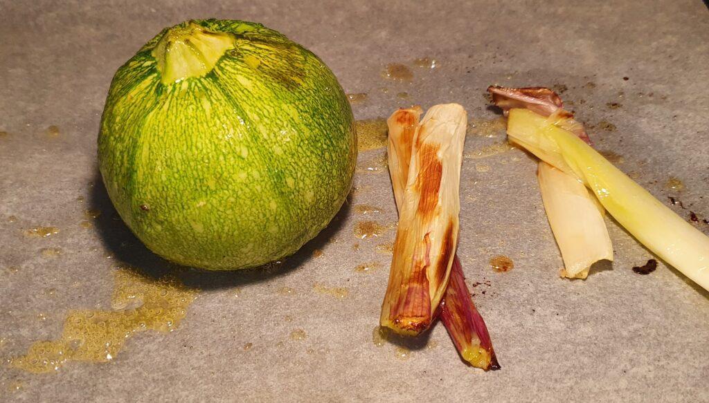 zucchina e cipollotti cotti in forno