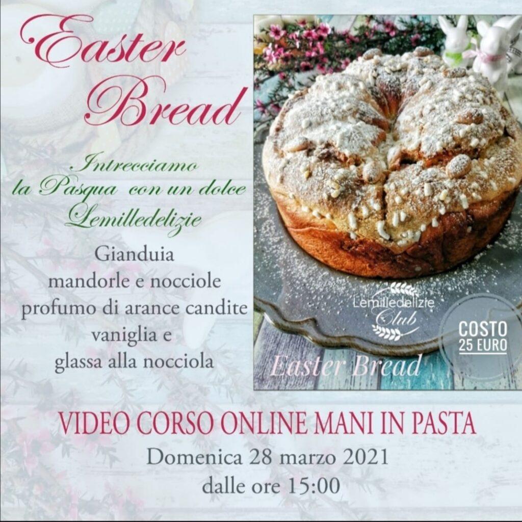 locandina del video corso on line di easter bread