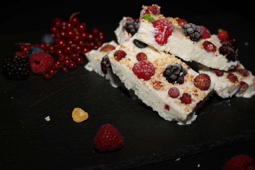 barrette di yogurt e frutti di bosco