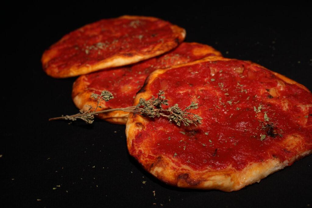 pizzette classiche al pomodoro