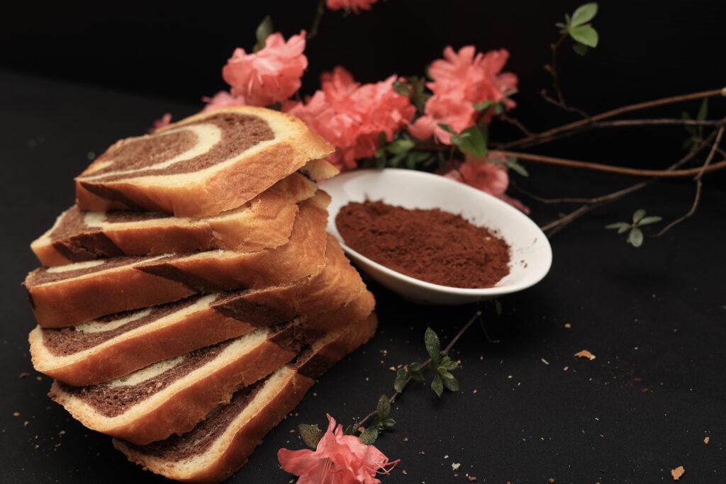 fette di pan bauletto bicolore