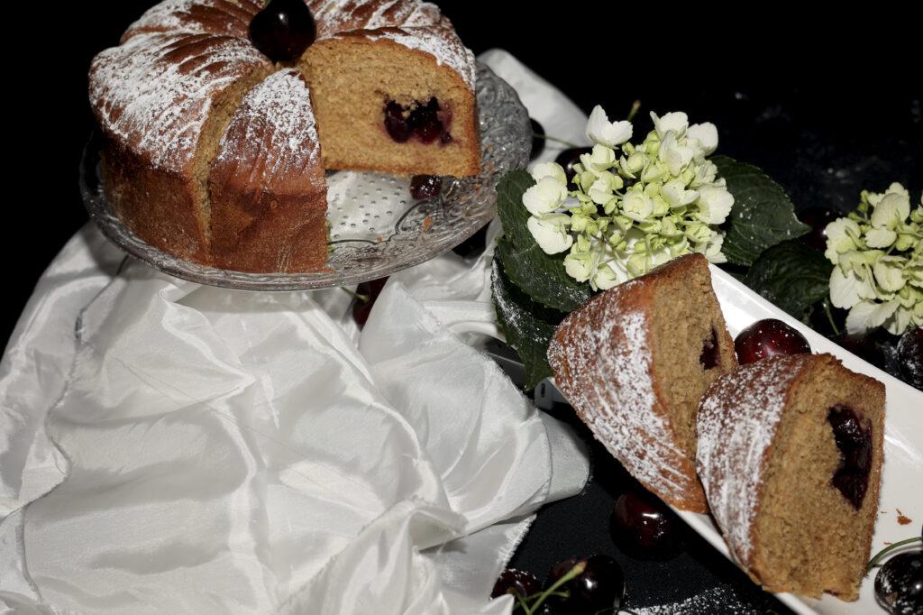 wool roll cake alle ciliegie