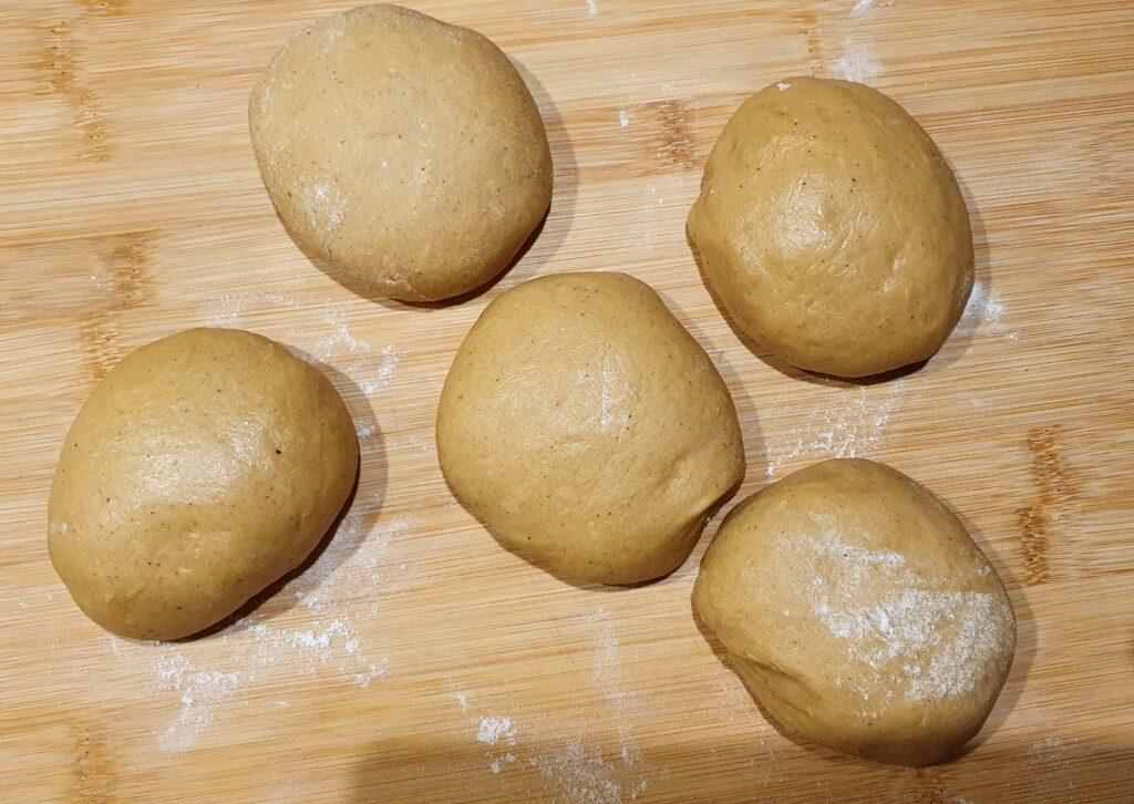 palline di impasto per wool roll cake