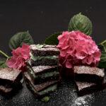 Brownies cocco menta e ricotta