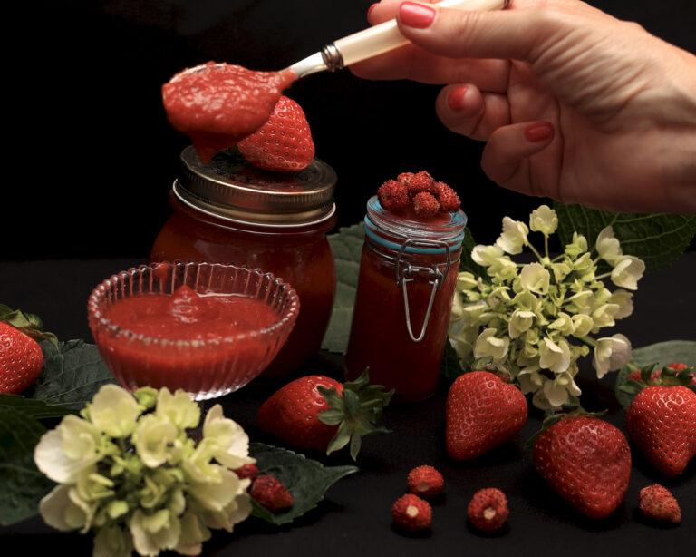 Marmellata di fragole senza zucchero