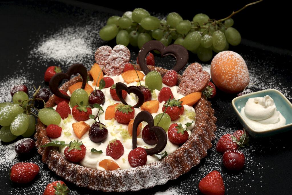 crostata morbida ricotta e frutta
