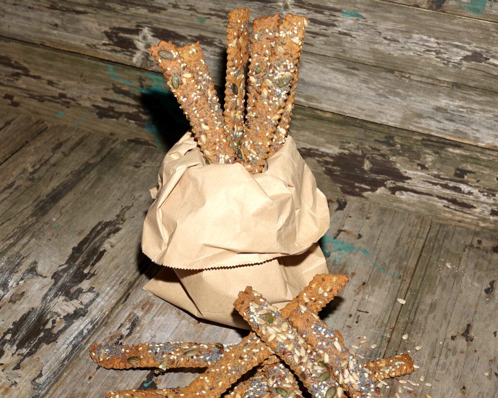 Grissini integrali ai 7 cereali con semi