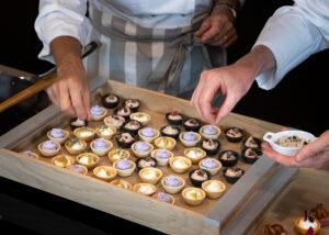 tartellette colorate dolci e salate
